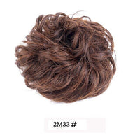 AliLeader Synthetic Chignon Hair Bun Wig For Women Heat Resistant Hairpiece Rubber Band Curly Hair Donuts Extensions Accessoire