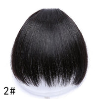 Allaosify Short Fake Hair Bangs Heat Resistant Synthetic Hairpieces Clip In Hair Extensions for Women Hairstyles 2 Blunt Bangs