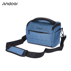 Andoer DSLR Camera Shoulder Bag Portable Fashion Polyester Camera Case for Canon Nikon Sony FujiFilm Olympus