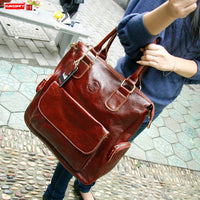 e women handbags leather 14 inch laptop briefcase female computer
