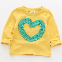 Baby Clothes 2018 Autumn Girls Tops Cotton Long Sleeve Loving Girls Tee Shirts Kids Clothing Fashion Toddler Infant T Shirt