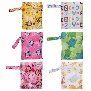 Baby Diaper Storage Bag Portable Waterproof Wet Dry Mini Tote Pouch Nappy Pocket