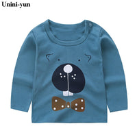 Baby Girls T Shirt Girl Cotton Autumn Spring Long-sleeved T-shirt Girl's Cute Cartoon Tee Children Fashion Tops 9m12m18m24m6m