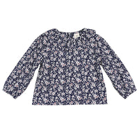Baby Shirts for Girls Toddler Infant Girls Tops Baby Girls Solid Flower Collar Puff Sleeve Blouse