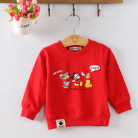 Baby Toddler Kids Audel Cotton Character Print  Long Sleeve O-neck T-shirts Character Print Kids G190