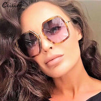 Big Mirror Sunglasses for Women 2019 New Luxury Brand Oversized Square Sun Glasses