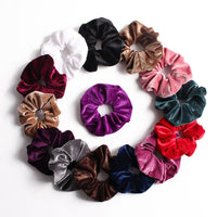 Big Size 15cm 1Pc Vintage Hair Scrunchies Lady Stretch Scrunchie Velvet Women