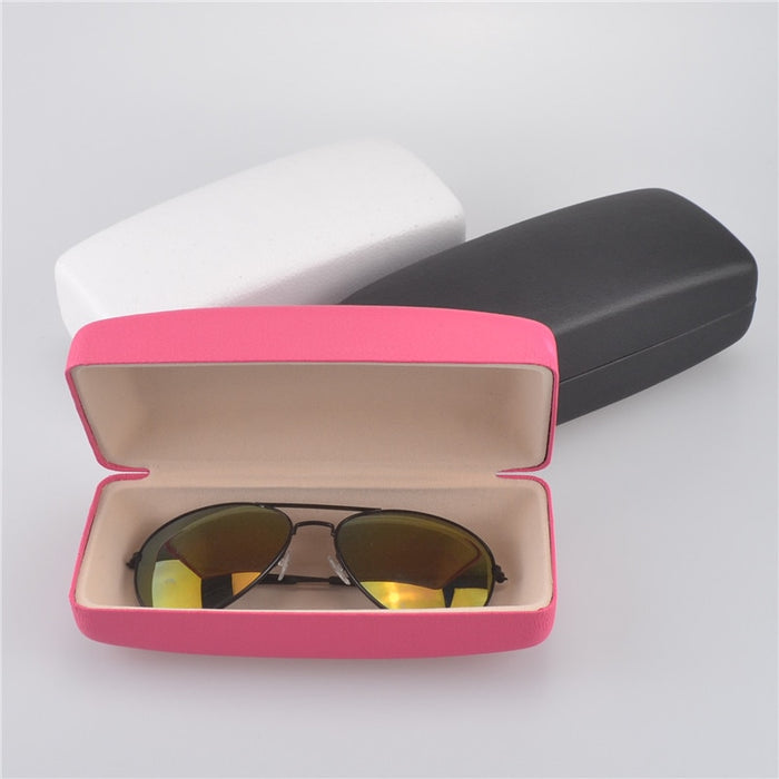 Big Square PU Leather Sunglasses Box For Women Eye Glasses Sunglasses Hard Case Box Bag Portable Protector Holder