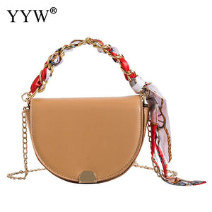 Black Saddle Bag Pu Leather Bag Round Handbag Women Vintage Half Moon Bags 2019 New Ins Fashion Drop Shipping Khaki Hand Bag