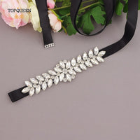 TOPQUEEN S69 Luxury Wedding Belt Bridal Beaded Belt Rhinestone Sash Wedding