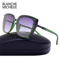 Blanche Michelle 2019 High Quality Cat Eye Polarized Sunglasses Women UV400 oculos