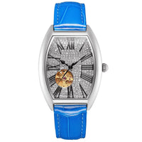 Waterproof  Mechanical Watch Woman Full Diamond Barrel Type Watch