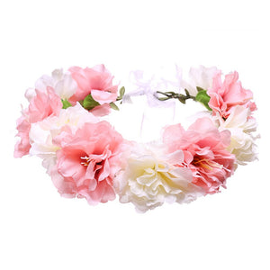 Bohemia Two-color Butterfly Flower Wreath Forehead Hair Head Band Garland Hair Decor For Women Gift Party Wedding