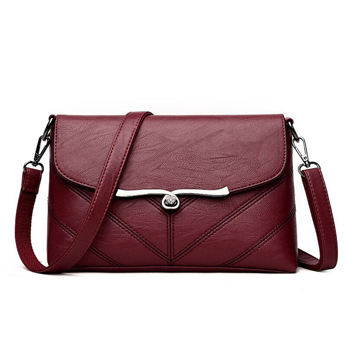Brand 2019 New Fashion Thread Crossbody Bag PU Leather  Woman HandBag Designer Shoulder  Ladies Sac Clutch Bag
