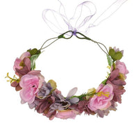Bridal Rose Flower head wreath crown Wedding floral garland halo photography tool hair accessory