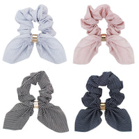 CN Hair Accessories Bow Scarf Hair Rubber Ribbon Elastic Hair Bands