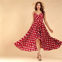 COLROVIE Burgundy Floral Print Tulip Hem Surplice Cami Dress Women
