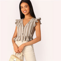 Boho Holiday Crop Blouse Women Summer Vacation Sleeveless