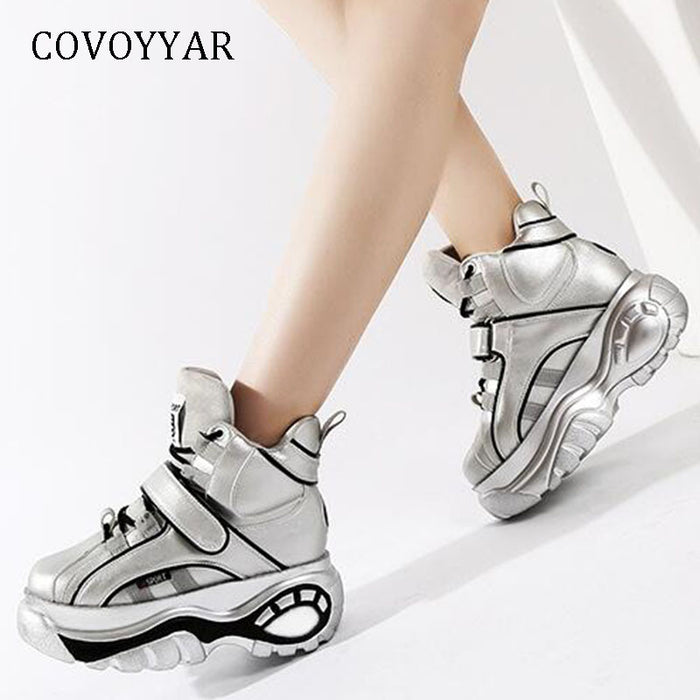 COVOYYAR 2019 Hot High Top Casual Shoes High Quality Women Sneakers