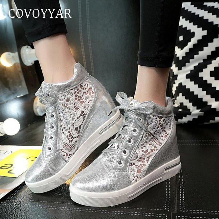 COVOYYAR White Casual Shoes 2019 Spring Autumn Breathable Mesh