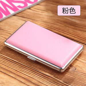 Candy Colors Slim Cigarette Case Tobacco Box for Men and Women Holds 14pcs 100mm Long Cigarettes