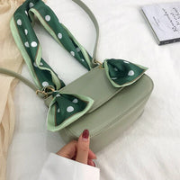 Carf Saddle Messenger Bag Women 2019 New Elegant Green Fashion Shoulder Bag Ladies Small Square Crossbody Bag Casual Sac A Main
