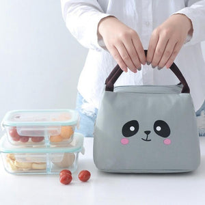 Cartoon Animal Pig Lunch Bags Outdoor Portable Oxford Cloth Ice Student