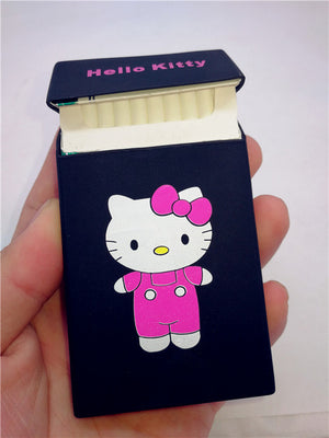 Cartoon New Soft Silicone 100s Slim Cigarette Case Cover for Women Lady Smoking Case Box Cat Duck Girl Cigarette Box 105*58*15mm