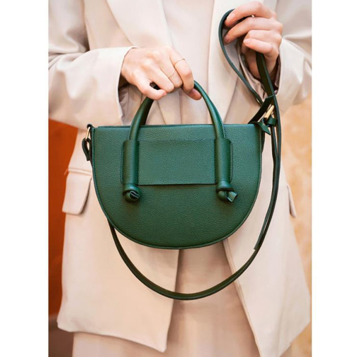 Casual PU Leather Women Handbags Semicircular Designer Bags For Women 2019 Flap Clutch Saddle Purse Chain Shoulder Messenger Bag