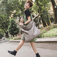Casual Women Hobo Bag Soft Genuine Cow Leather Fashion Shoulder Bags Female Large Tote Bucket Handbag lady large capaci