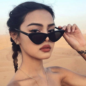 Cat Eye Sunglasses Women 2018 New Fashion Triangle Small Size Frame Eyewear Reb