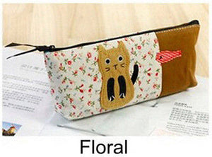 Cheap New Cat Pattern Cosmetic Bag Women Makeup Bag Travel Organizer Pouch Pencil Pen Bag Stationery package Storage Bag -TH