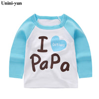 Children Kids Clothing Tees Cool Letter Baby Boys T Shirts For Summer Spring autumn Children Outwear Baby T-shirt 5t4t3t24m18t12