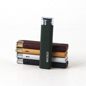 Cigarette Accessories Windproof slim gas frosted lighter Women use elegant torch lighter