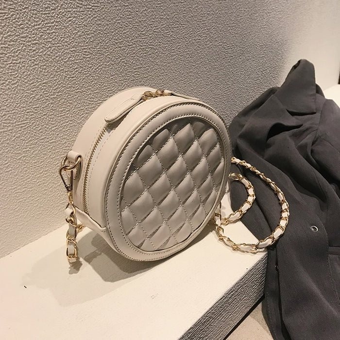 Circular Design Fashion Women Shoulder Bag Leather Women's Crossbody Messenger Bags Ladies Purse Female Round BolsaHandbag qq143