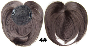 Clip in on synthetic top closure hair fringe head skin hair bang hairpieces wiglet  18 colours available 10pcs/lots