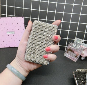 Colorful Diamond Lucky Four-leaf Grass Slim Cigarette Box Metal Anti-pressure Waterproof For Women Fashion Cigarette Case Gifts