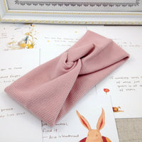 Cotton Women Headband Turban Solid Color Girls Knot Hairband Hair