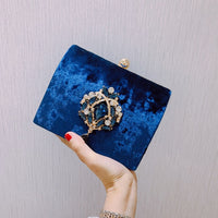 Crystal Day Clutch Evening Bags Velour Rhinestones Bling Crossbody Shoulder Bag For Wedding Diamonds Minaudiere Party Bags