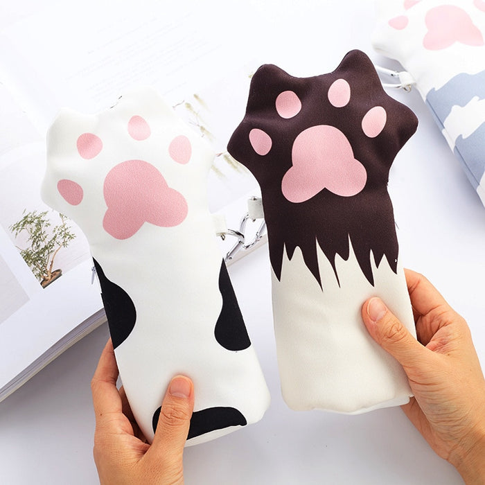 Cute Korean Big Capacity Cat's Claw Pencils Bag Pencil Case Pen Storage Cosmetic Bags For Women School Office Kawaii Pencilcase