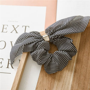Cute Rabbit Ear Striped Hair Accessories Elastic Hair Band Headwear Hair Rope