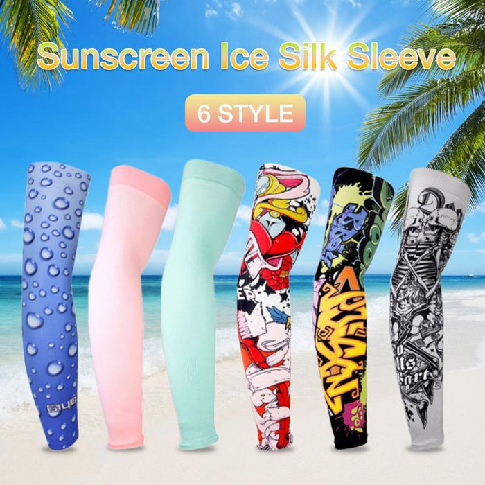 Cycling Riding Sleeves Ice Silk Outdoor Arm Bicycle Bike Arm Warmer Sun