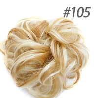 DIFEI Synthetic Curly Chignons Hair Scrunchies Extensions Elastic Natural Fake Hair Bun Hairpiece Accessories
