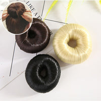 DIY At Home Or Salon Use Synthetic Fibers Braider Ladies Girls Magic Shaper Donut Hair Bun Ring Maker Hair Styling Tools