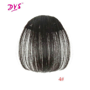 Deyngs Synthetic Clip In Bangs Short Straight Fringe Hair Extensions Front on Brown Black Women Bangs One Piece Heat Resistant