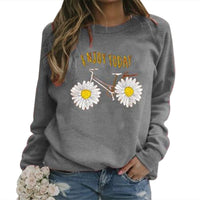 Women's Sweatshirt Long-Sleeve Floral Printed Casual Pullover Autumn 2020