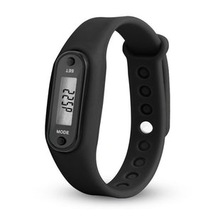 Digital LCD Silicone Wirstband Pedometer Run Walking Step Distance Calorie Counter Wrist Women Men Sport Fitness Watch Bracelet
