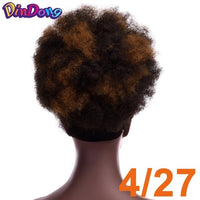 DinDong Synthetic Afro Puff Curly Chignons Hair Scrunchies Extensions Hair Wrap Ponytail Hair Tail Updo Fake Hair Bun Hairpiece