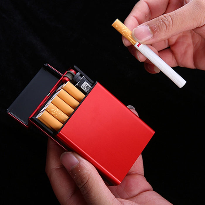 Durable Aluminum Cigarette Case Holder Automatic Rebound Smoking Storage Box Pocket Tobacco Container for Woman Man Gifts