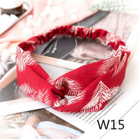 Ear Elastic Headband for Woman Girl Knot Bandage Hairband Turban